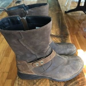 Travvy merrell leather boot zip up brown size 11